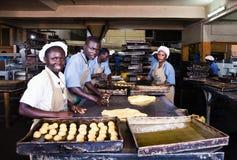 Spitzen-Spitzenfabrik Uganda lizenzfreies stockbild