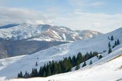 Spitzen von Azuga-Bergen, Rumänien Stockfoto