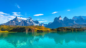 Spitzen von Torres Del Paine, Nationalpark, Patagonia Lizenzfreies Stockfoto