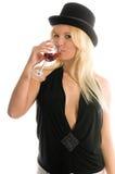 Spitzenhut-Wein Stockbild