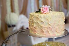 Spitzenreihe des Kuchens Stockbild