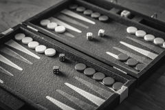 Spitzenrolle des Backgammons Stockfotografie