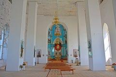 Spitzenseitenaltar der Dreiheits-Kathedrale in der Regelung Gus-Zhelezny, Russland Stockfotografie