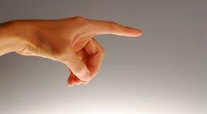 Spitzer Finger Lizenzfreie Stockfotos