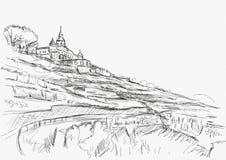 Spitzhaus Radebeul sketch. Of the vineyard Royalty Free Stock Photography