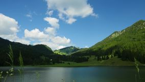 Spitzingsee, Lake in Germany, panoramic view. Time lapse stock footage