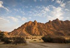 Spitzkoppe. The granite peaks of Spitzkoppe at sunrise, Spitzkoppe, Namib desert, Namibia, southern Africa Royalty Free Stock Photo