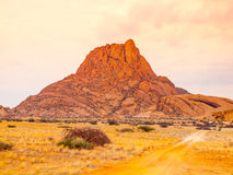Spitzkoppe, aka Sptizkop - unique rock formation of pink granite in Damaraland landscape, Namibia, Africa Royalty Free Stock Photography