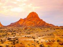 Spitzkoppe, aka Sptizkop - unique rock formation of pink granite in Damaraland landscape, Namibia, Africa Royalty Free Stock Photo