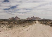 Spitzkoppe berg - Namibia arkivfoton