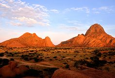 Spitzkoppe, Erongo, Namibië Royalty-vrije Stock Afbeeldingen