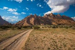 Spitzkoppe, formación de roca única, Namibia foto de archivo libre de regalías