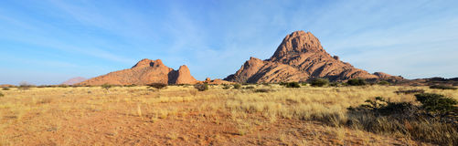 Spitzkoppe. A group of bald granite peaks, Namibia Royalty Free Stock Images
