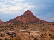 Spitzkoppe morning. Morning at Spitzkoppe hill (Namibia royalty free stock image