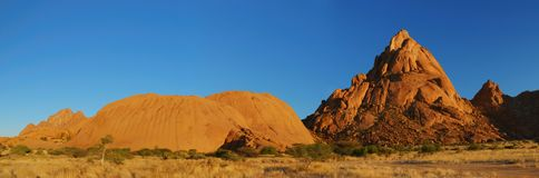 Spitzkoppe, Namibia, Africa. Spitzkoppe during sundown, Namibia, Southern Africa stock photography