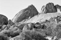 Spitzkoppe, Namibia monochrom Obraz Royalty Free