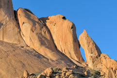 Spitzkoppe in Namibia at sunset Stock Photos
