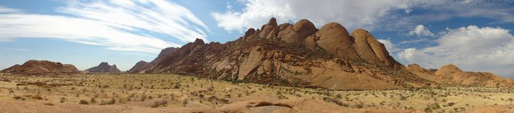 Spitzkoppe panoramic Namibia Stock Images