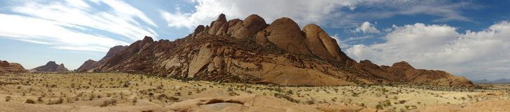 Spitzkoppe panoramisch Stockfoto