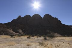 Spitzkoppe Range  Namibia Royalty Free Stock Images