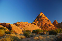Spitzkoppe during sunset royalty free stock images
