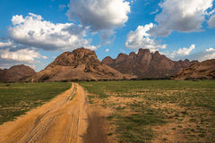 Spitzkoppe, unieke rotsvorming in Damaraland, Namibië Royalty-vrije Stock Foto