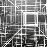 Spjälad ram som göras av tärning i utsikter Bakgrunden av skärmobjekten Royaltyfri Bild