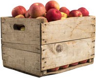 Spjällåda mycket av äpplen Royaltyfri Fotografi