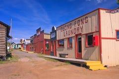 spökemontana town Royaltyfri Fotografi