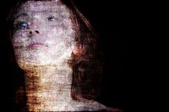 spöklik grungekvinna Royaltyfria Foton