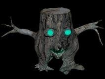 Spöklik stubbe på svart Royaltyfri Fotografi