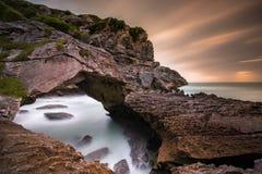 Spöklika grottor Fotografering för Bildbyråer