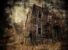 Spöklikt hus Royaltyfri Fotografi