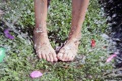 Splah баллона воды Стоковые Фото
