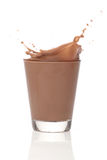 Splah del cioccolato al latte Fotografie Stock