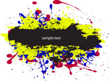 Splah screen vector. Color paint splashes font gradient vector sample text stock illustration