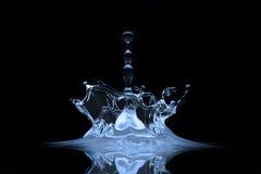 Splash. A drop splash in a clean blue water Royalty Free Stock Image