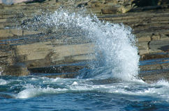 Splash. The ocean Splashing and glinting in the sun Stock Photography