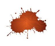 Splash. Isolated ink splash shape with circuit pattern Royalty Free Stock Photography