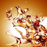 Splash. Water splash with golden background Stock Photography