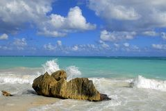 Splash. On the coast in Tulum, Mexico Royalty Free Stock Photography