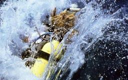Splash. Diver entering innerspace Royalty Free Stock Image