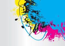 Splash. A cmyk paint splash background Royalty Free Stock Photography