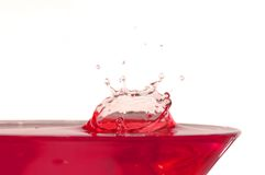 Splash. Drop of liquid; liquid splash Royalty Free Stock Images