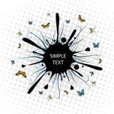 Splash. Big black splash and butterfly Stock Illustration