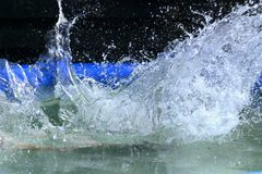 Splash. Splahing in a pool royalty free stock photography