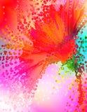 Splash. Digitally rendered image of a gerber daisy stock illustration