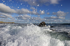 Splash!!!. Coastal image taken froma beach on New Zealand's 'Surf Highway stock image