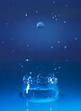 Splash. Blue water splash Stock Image