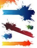 Splash. Colorful splashes on the white background Stock Image